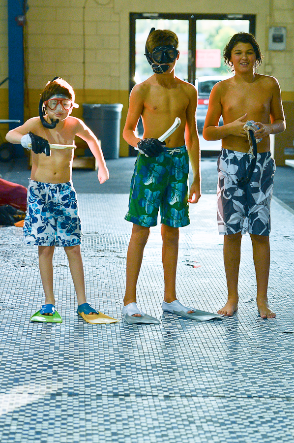 Our next generation of UWH players?  We poached from the Gladiator water polo team.  Danny, Anthony and Maximus.